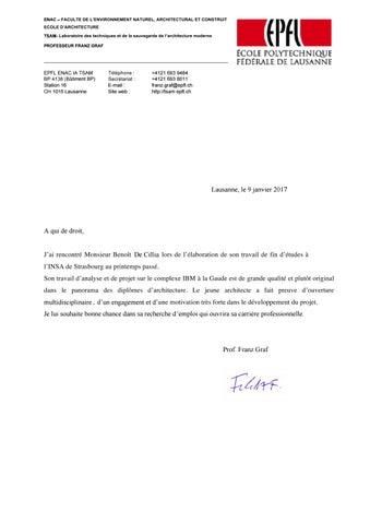 Lettre de recommandation by benot de cillia issuu page 1 altavistaventures Choice Image
