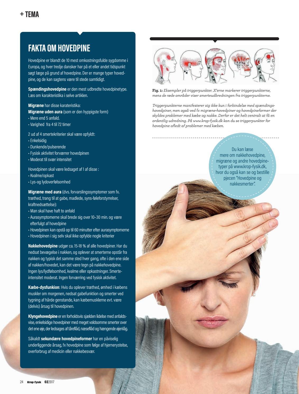 nakkesmerter hovedpine