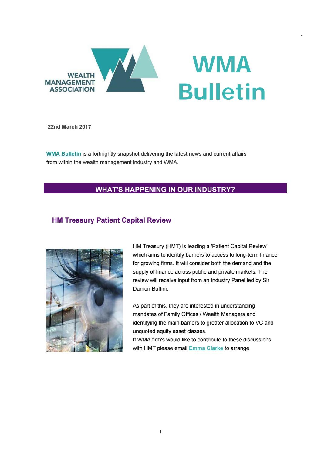 Fortnightly bulletin 22nd march 2017 by PIMFA - issuu