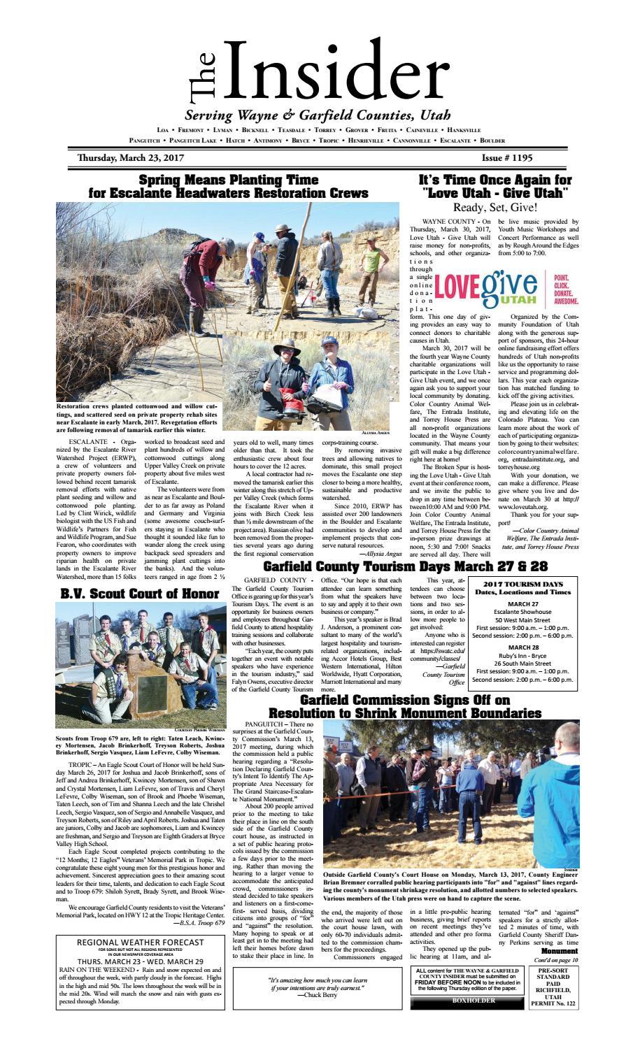 The Wayne and Garfield County Insider 03/23/2017 by Snapshot