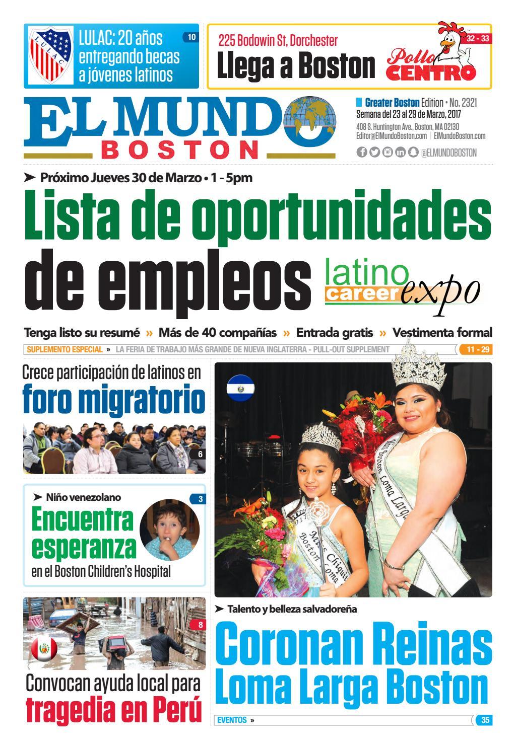 El Mundo Boston | Newspaper | Mar 23, 2017 by El Mundo Boston ...