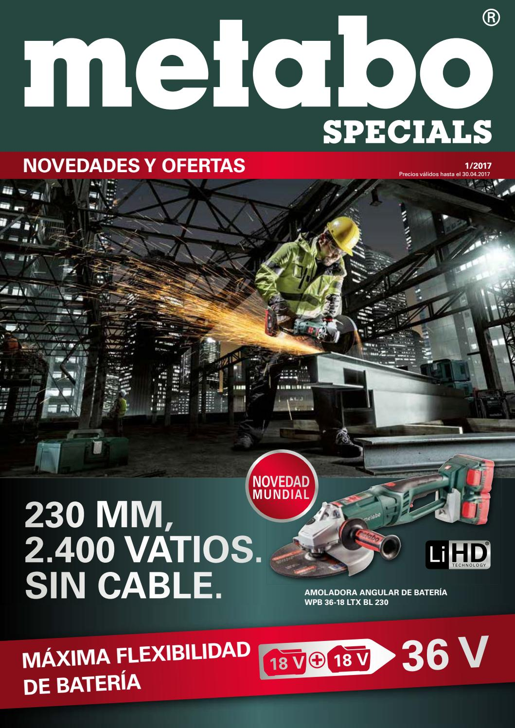 0 Ah Li-Ion SSE 18 LTX con malet/ín 18 V Metabo 602266500 602266500-Sierra de Sable a bateria 18V // 2X 2 0 W