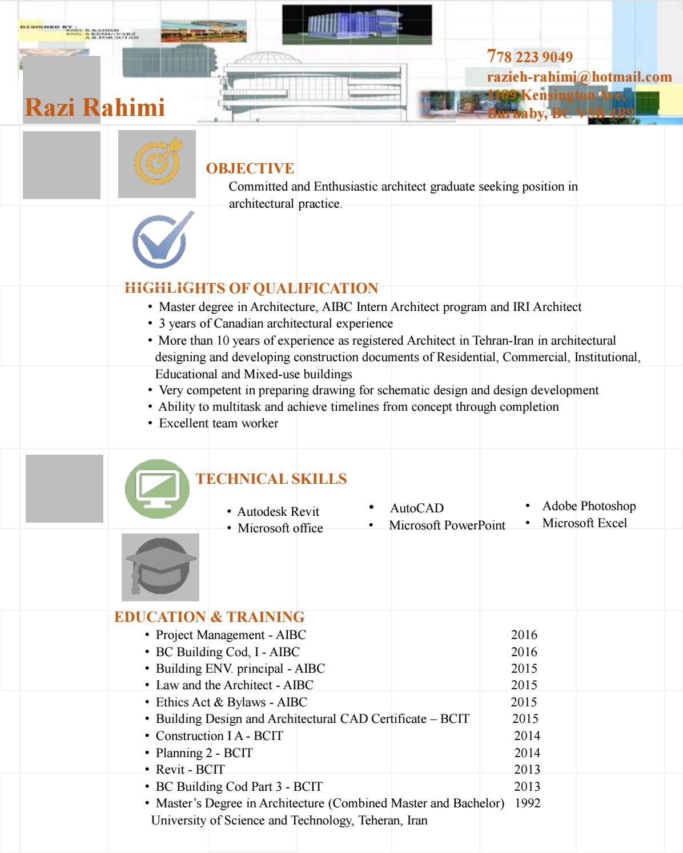 Resume By Razi Rahimi