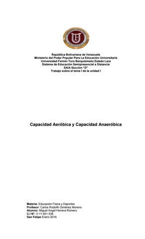 Aerobica capacidad es y la anaerobica q