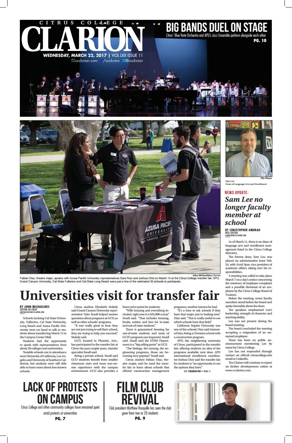 Clarion 3/22/17 by Citrus College Clarion - issuu