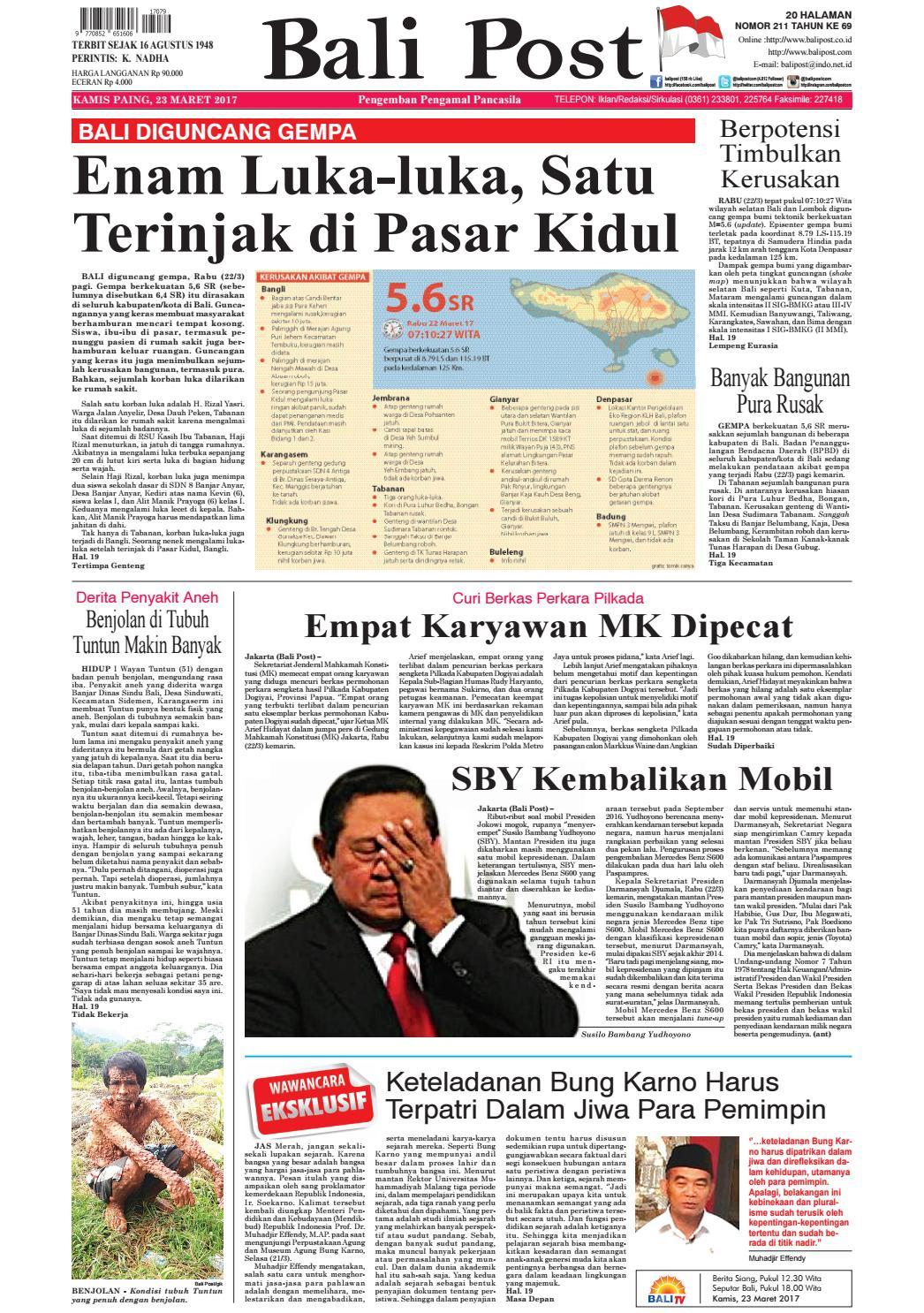 Edisi 23 Maret 2017 Balipostcom By E Paper Kmb Issuu Rumah Peduli Korban Gempa Khusus 15 Jiwa