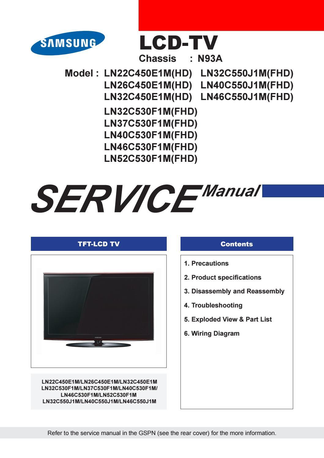 Samsung ln32c450e1m chassi 93 by Jose Aparecido Pinheiro
