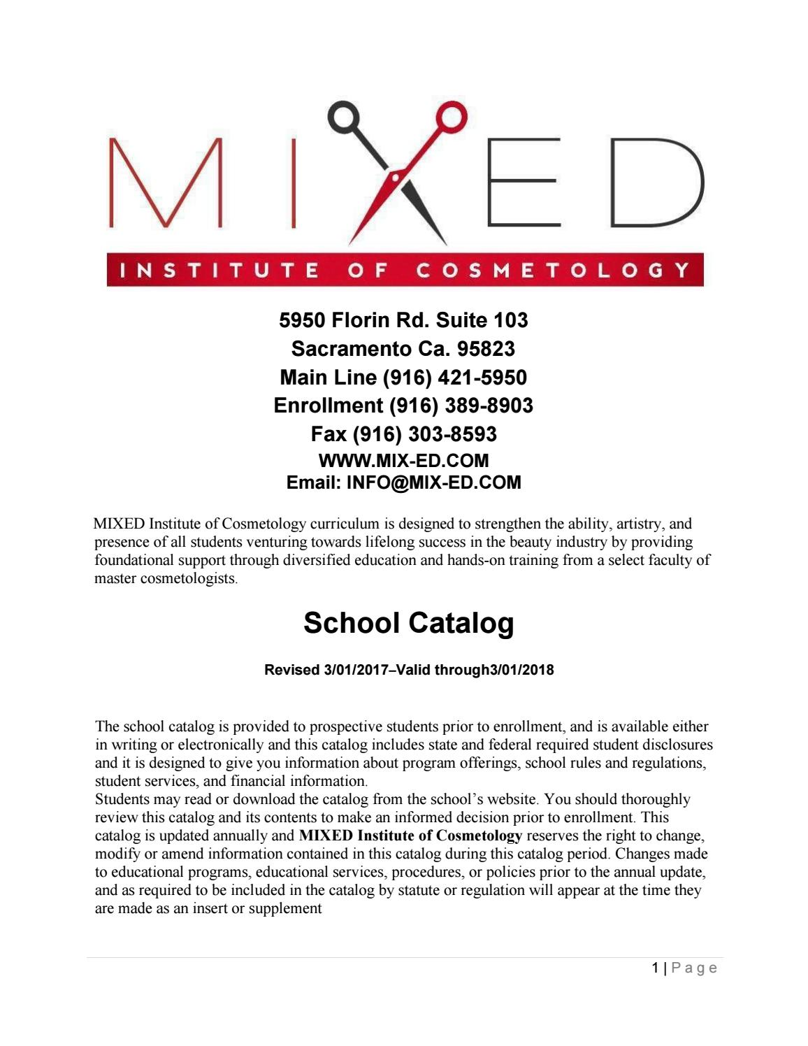 2017 mixed school catalog by mixed institute of cosmetology issuu aiddatafo Image collections