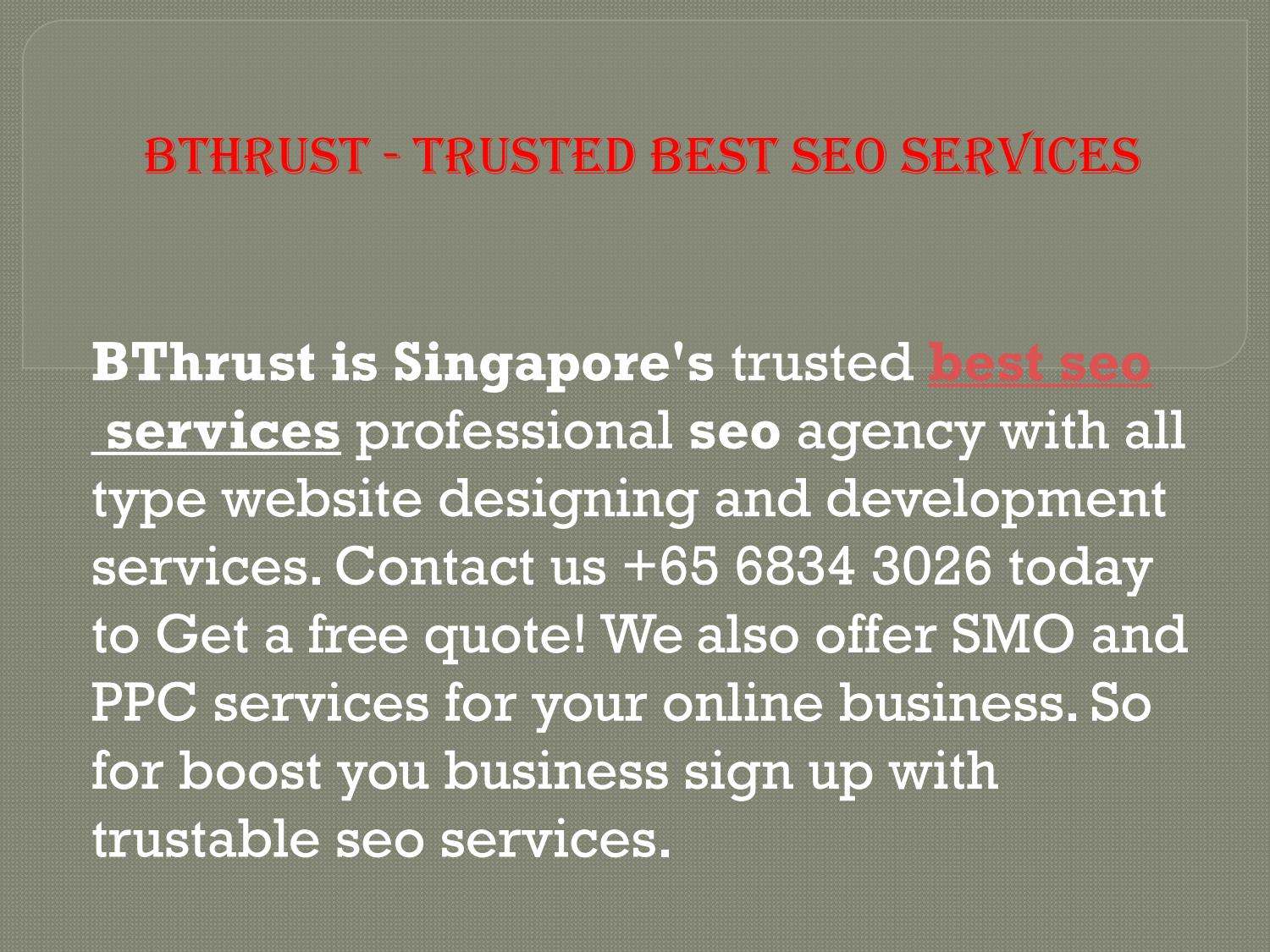 Bthrust trusted best seo services