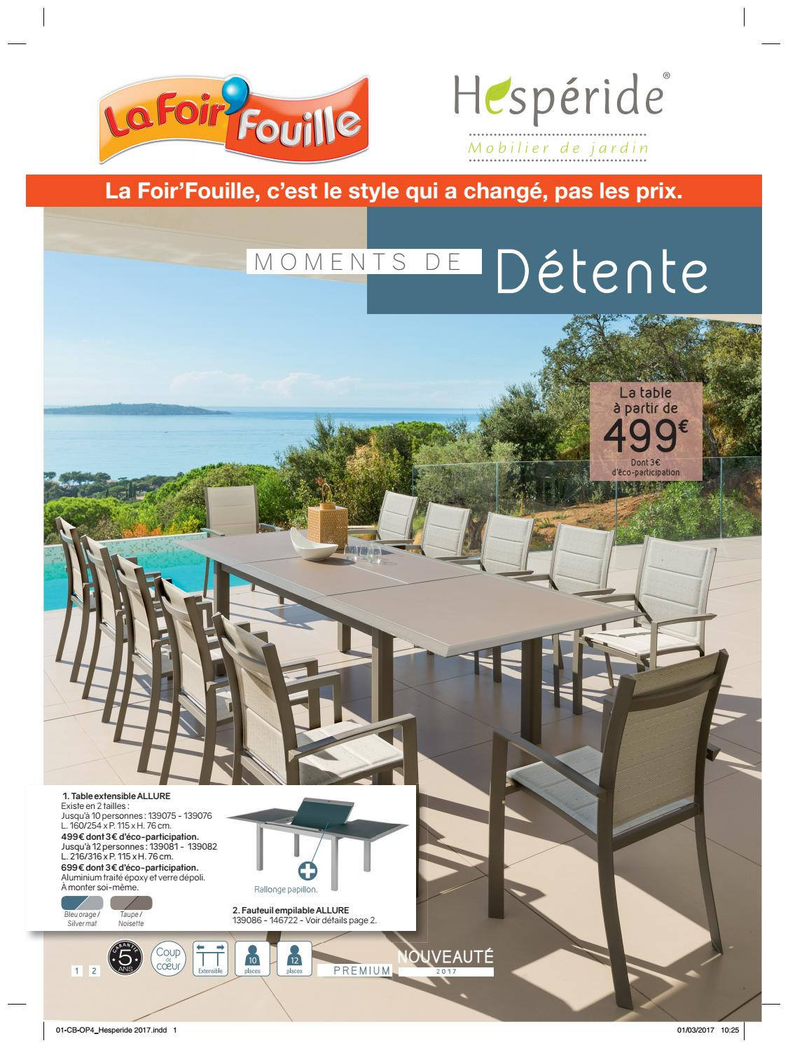 Catalogue hesperide corse by la foir 39 fouille issuu for Table exterieur la foir fouille