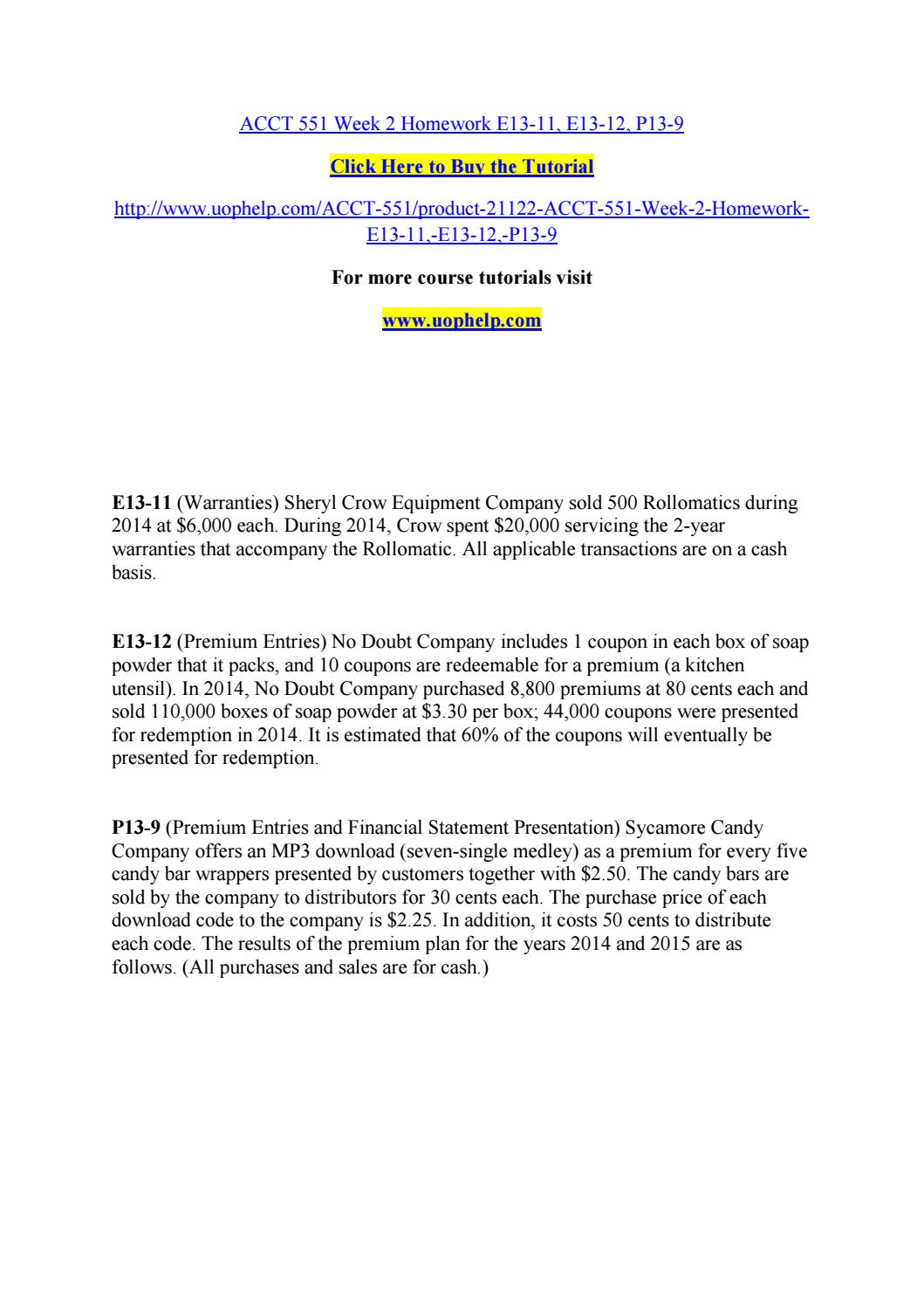 sheryl crow equipment company sold 500 rollomatics dur Answer to e13-11 (warranties) sheryl crow equipment company sold 500 rollomatics during 2014 at $6,000 each during 2014, crow spe.