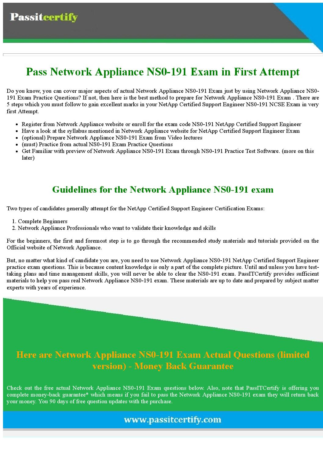 Get Free Netapp Ns0 191 Exam Demo Today By Michael J Koester Issuu