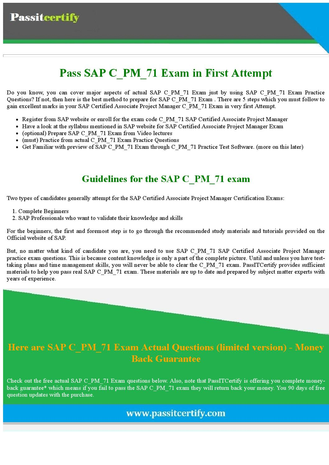 Pdated 2017 Sap Cpm71 Exam Dumps For 100 Success By Michael J