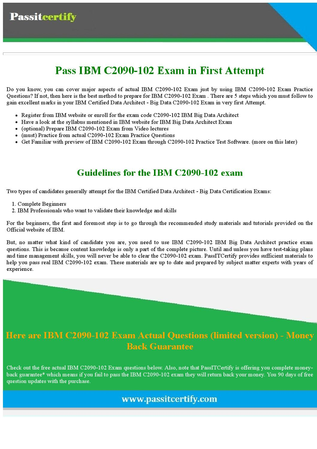 Pass Ibm Certified Data Architect Big Data C2090 102 Exam By
