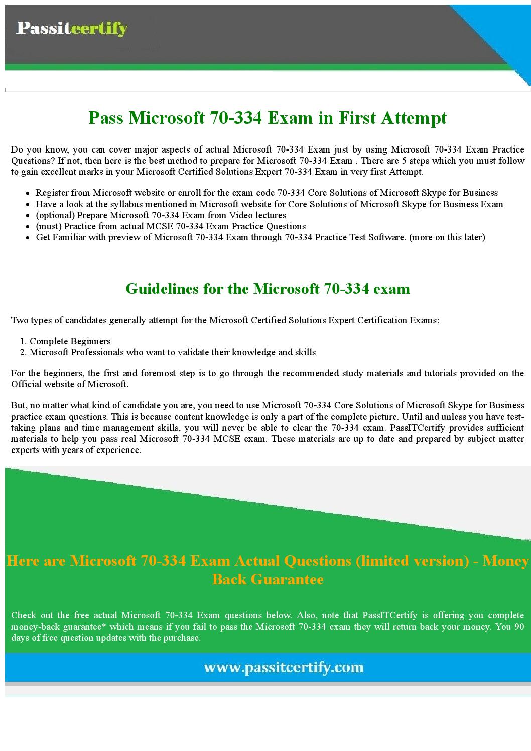 Get 20 Discount 70 334 Core Solutions Of Microsoft Skype For