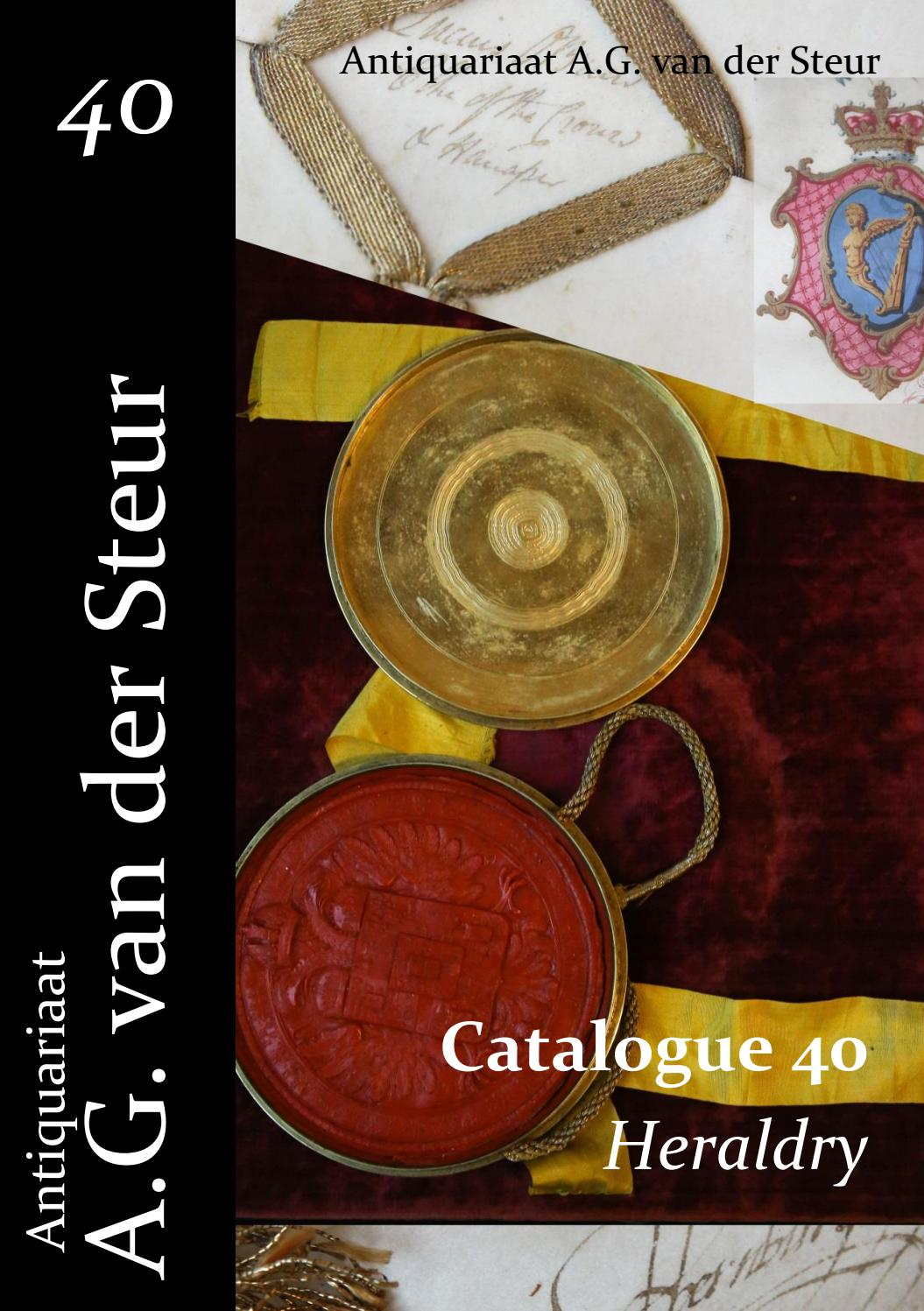Catalogue 40 Heraldry By Antiquariaat Van Der Steur Issuu Rider Oblong R 222 B