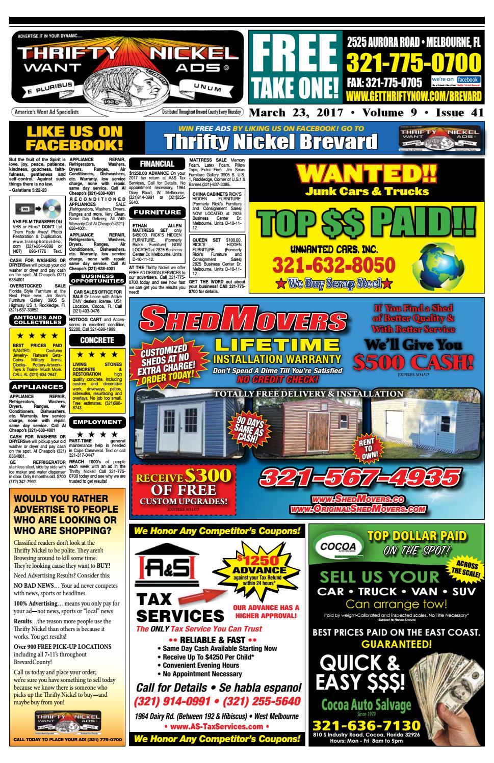 Thrifty Nickel Brevard 32317 by Thrifty Nickel issuu