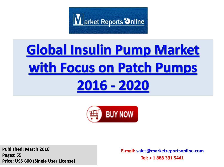 insulin patch pump market
