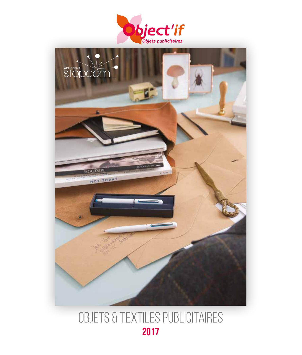 Object if catalogue 2017 objets   textiles publicitaires by Objectif  Goodies - issuu 4c25166389a