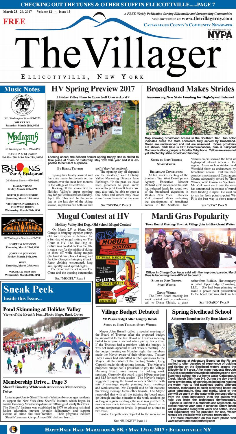 The villager ellicottville march 23 29, 2017 volume 12 issue 13 by ...