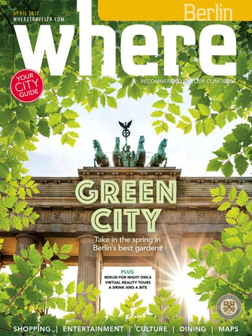 Where Berlin April 2017 By Morris Media Network Issuu