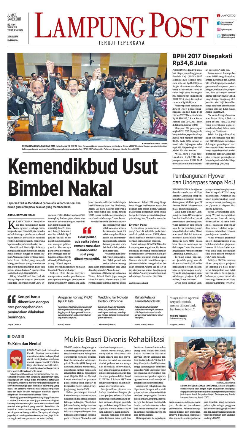Lampung Post Jumat 24 Maret 2017 By Issuu Emba Jeans Bs08b1 Celana Denim Pria Warna Jet Black Hitam 38