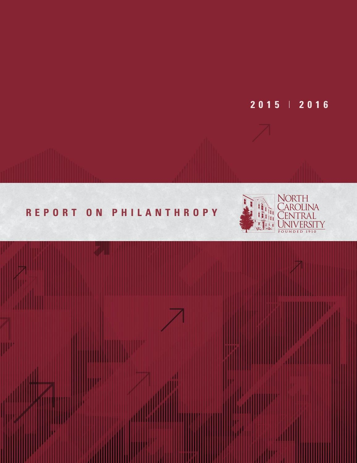 Nccu Report On Philanthropy   By North Carolina Central University Issuu