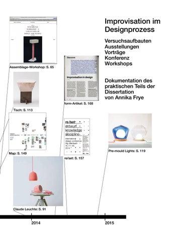 Improvisation Im Designprozess Praktischer Teil By Annika Frye Issuu