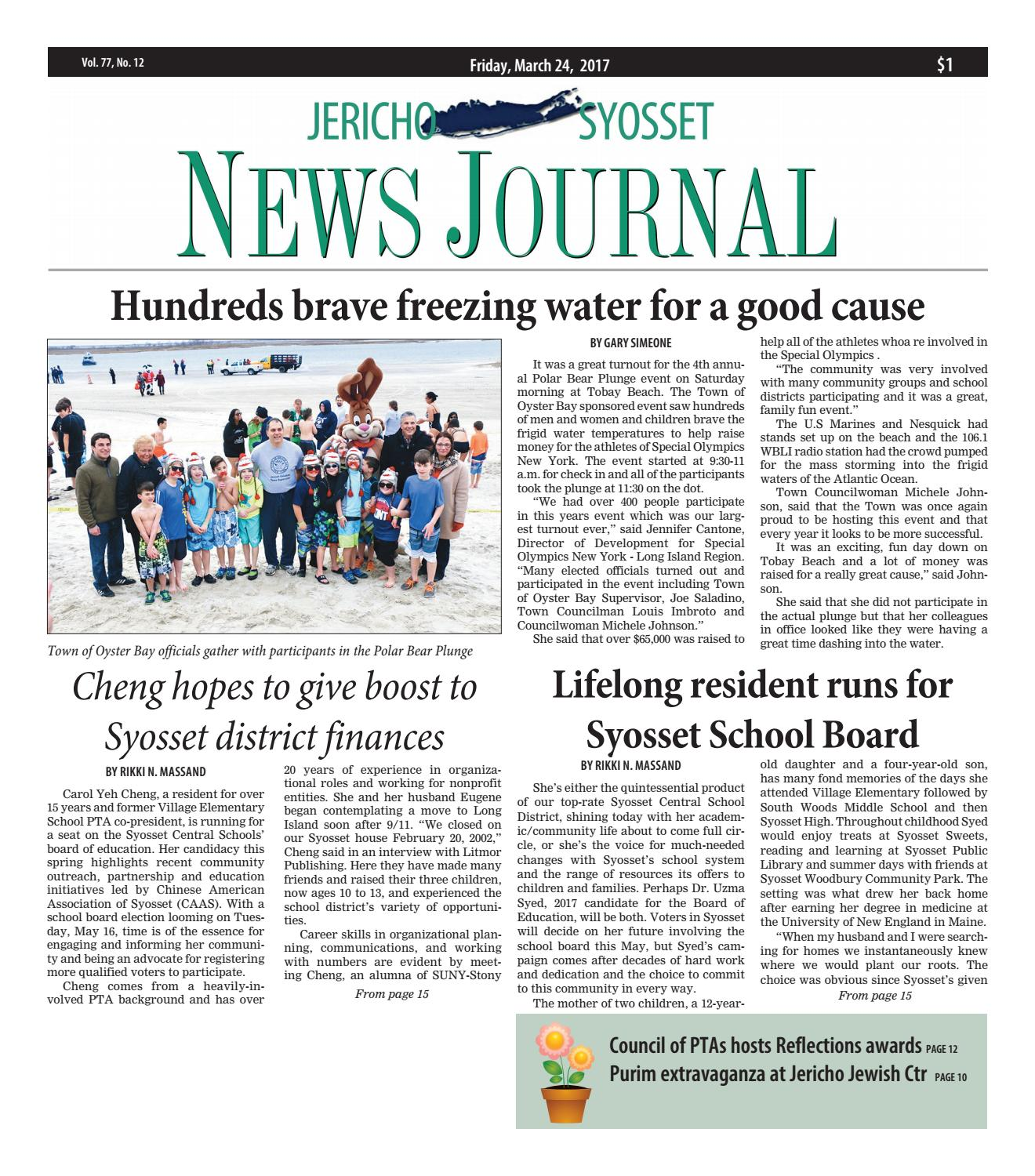 59a7a297d27a The Jericho-Syosset News Journal by Litmor Publishing - issuu