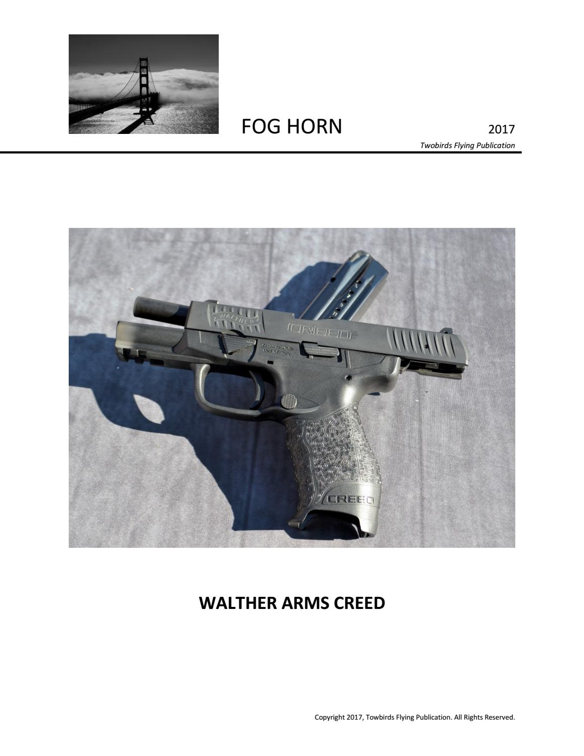 WALTHER ARMS CREED by Sal Palma - issuu
