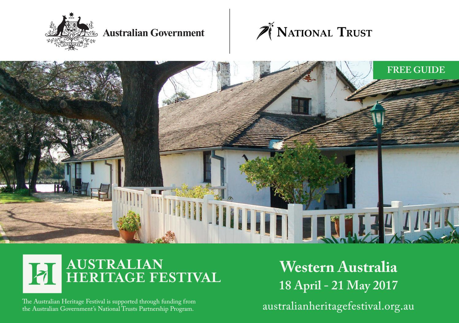 2017 Australian Heritage Festival WA Programme by The