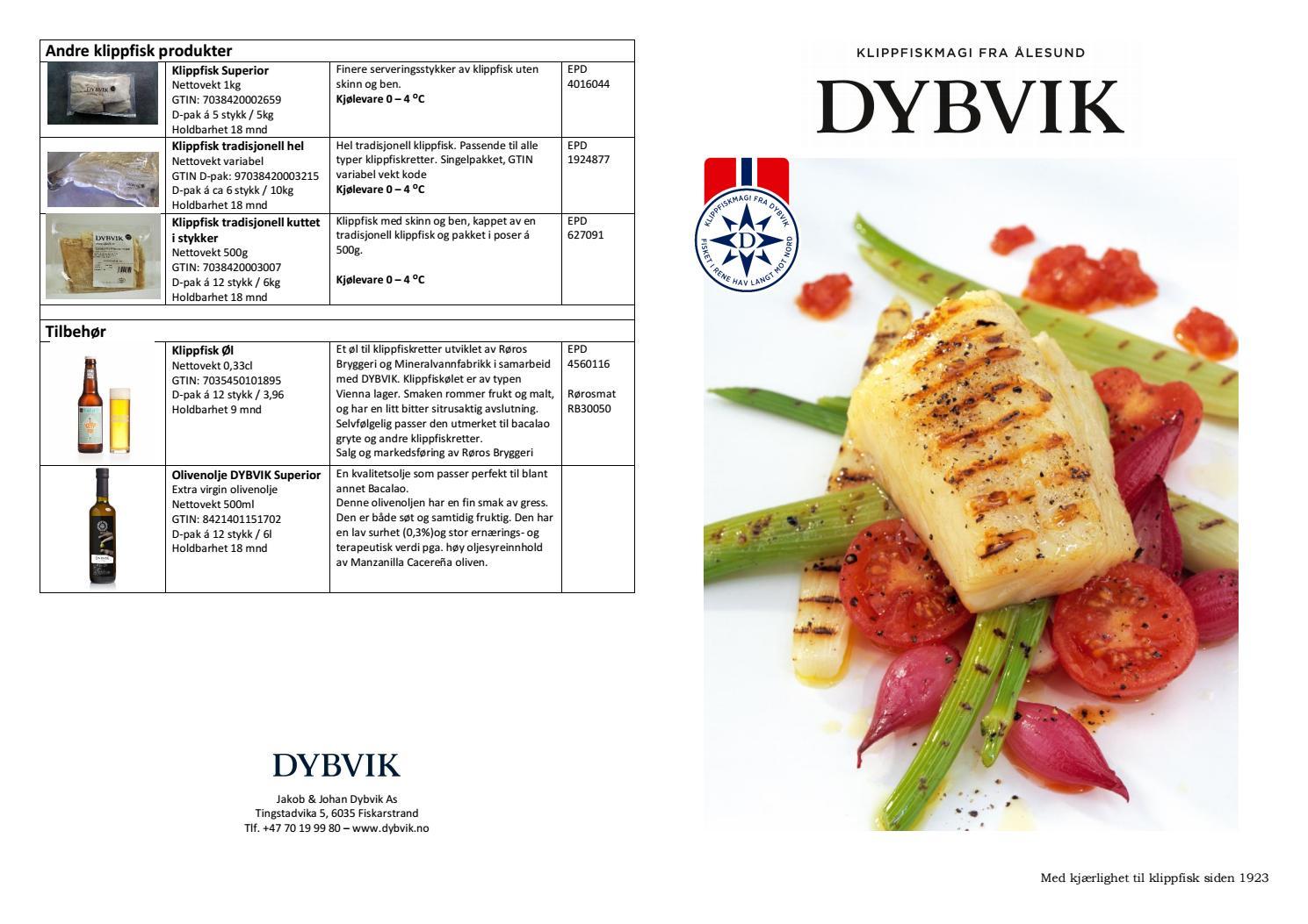 DYBVIK produkt katalog vår 2017
