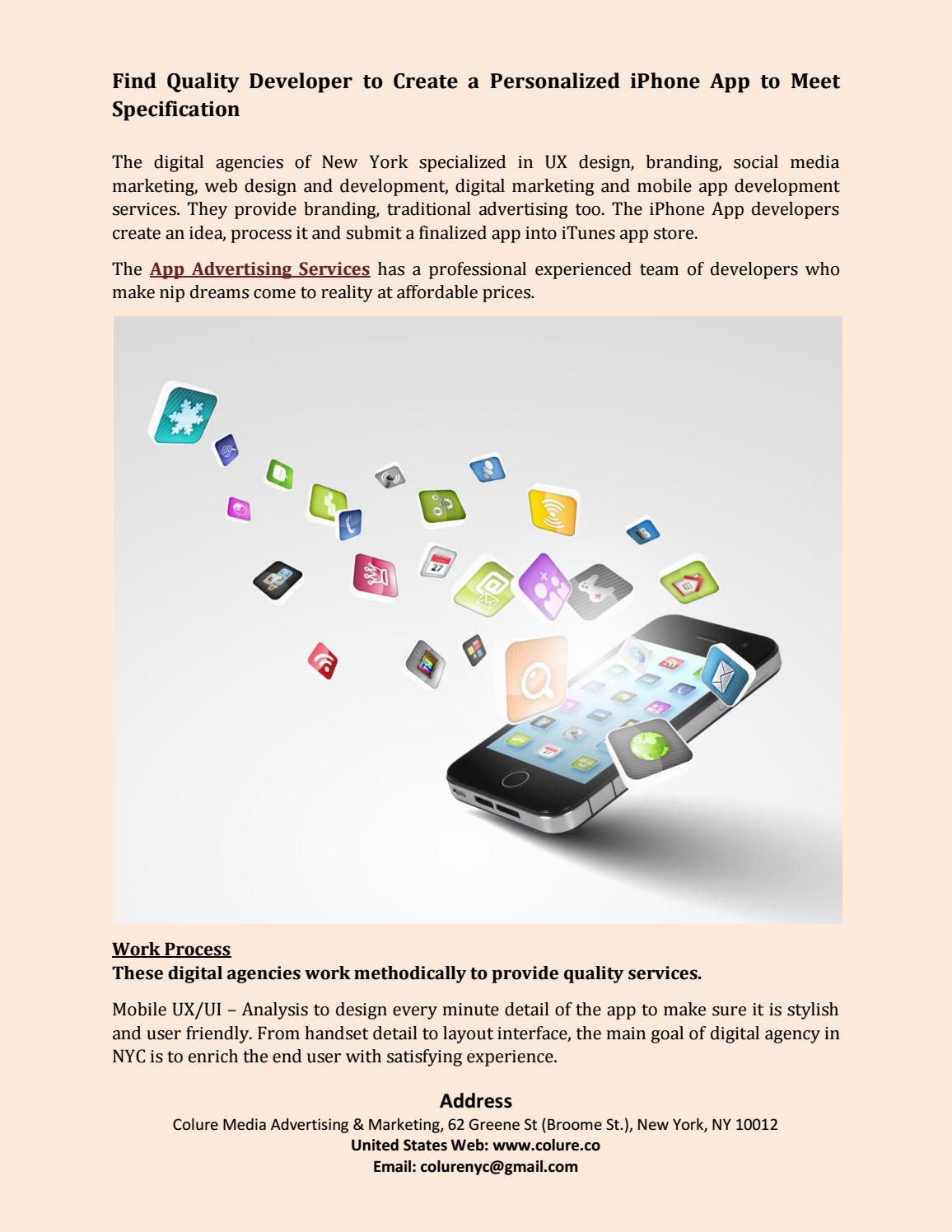Digital agency in nyc, iphone app development new york pdf
