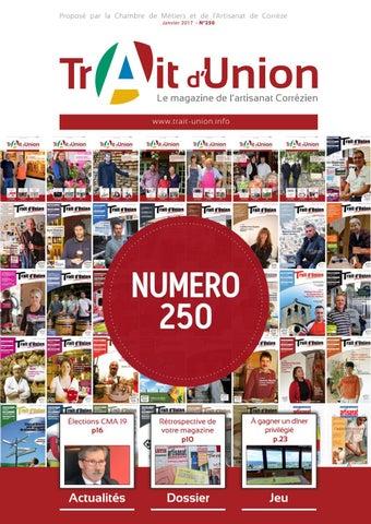 Ordinaire Proposé Par La Chambre De Métiers Et De Lu0027Artisanat De Corrèze Janvier 2017    N°250
