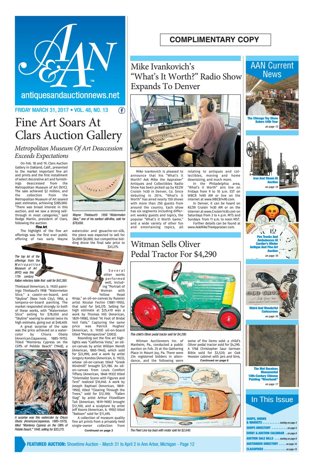 Antiques Auction News 033117 By