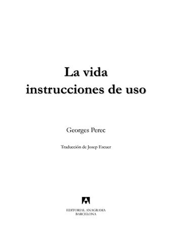 199400362 la vida instrucciones de uso george perec by de repente é ... c8c5bf4a0952