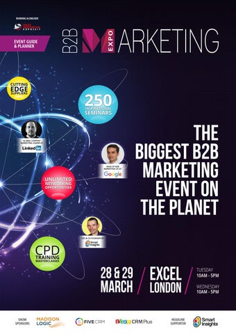 B2b marketing 2017 show guide by prysm group issuu page 1 fandeluxe Gallery