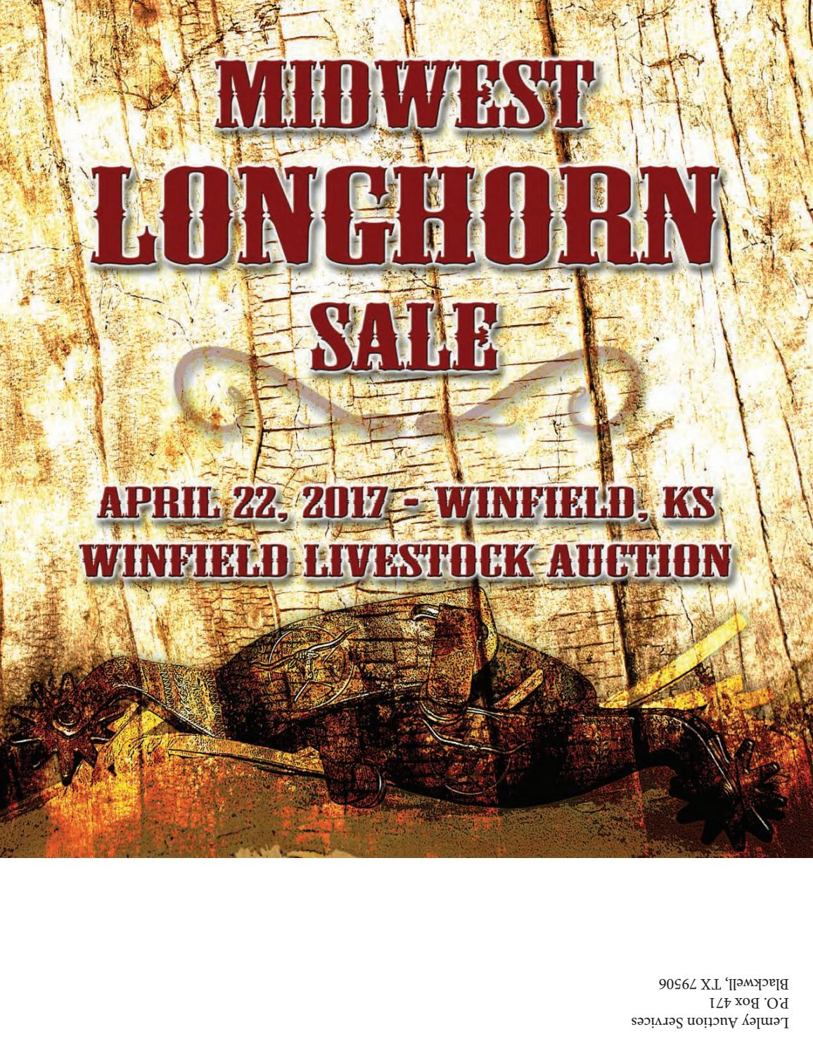 2017 midwest longhorn sale catalog by texas longhorn trails