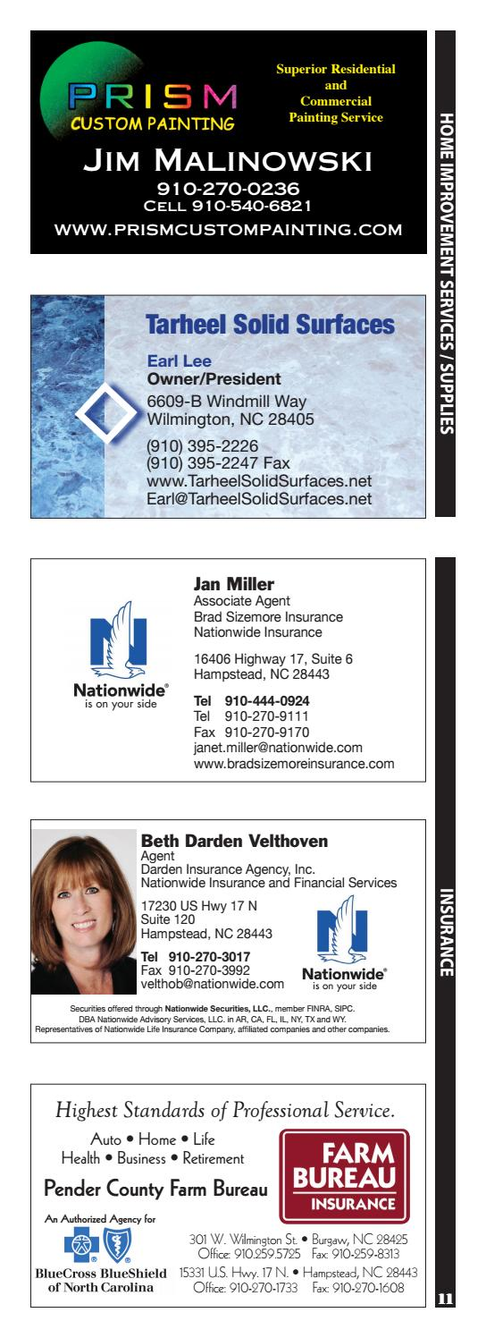 Pender County Business Card Directory 2017 By Katie Pettigrew Issuu