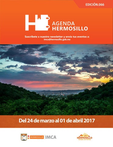 "Cover of ""Agenda Hermosillo 24 marzo 2017"""