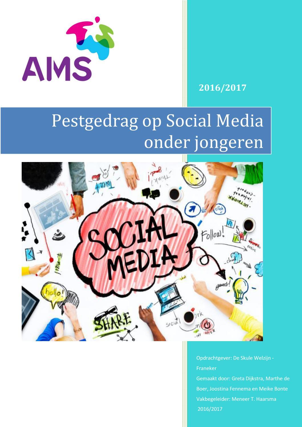 ams pws pestgedrag op social media onder jongeren greta dijkstra