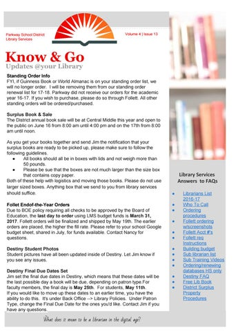 Know & Go Volume 4 | Issue 13