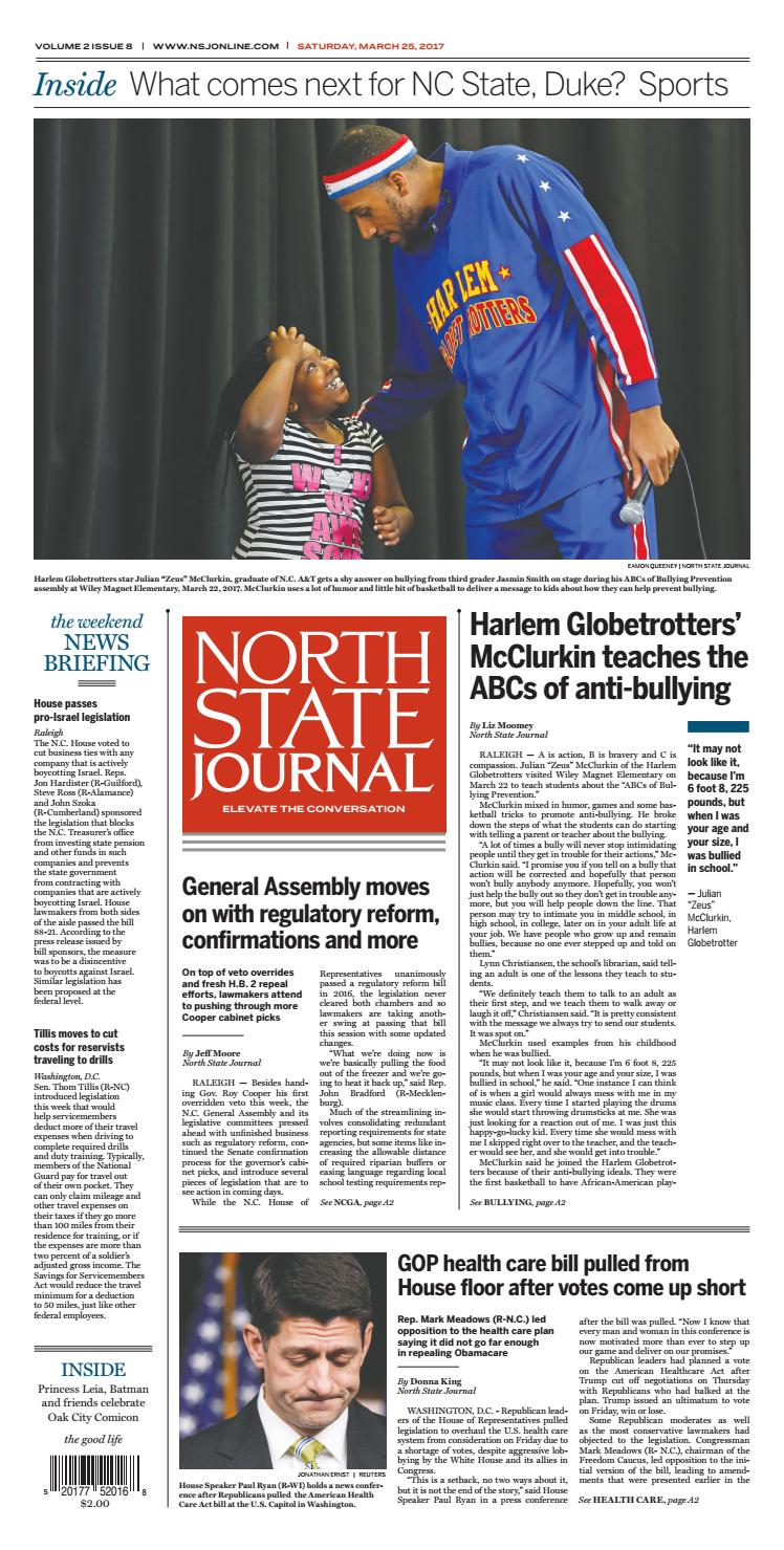 North State Journal Vol  2, Issue 8 by North State Journal