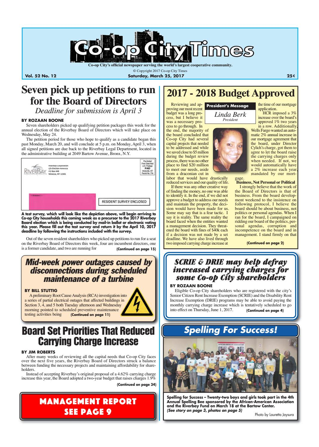 Co-op City Times 03/25/17 by Co-op City Times - issuu