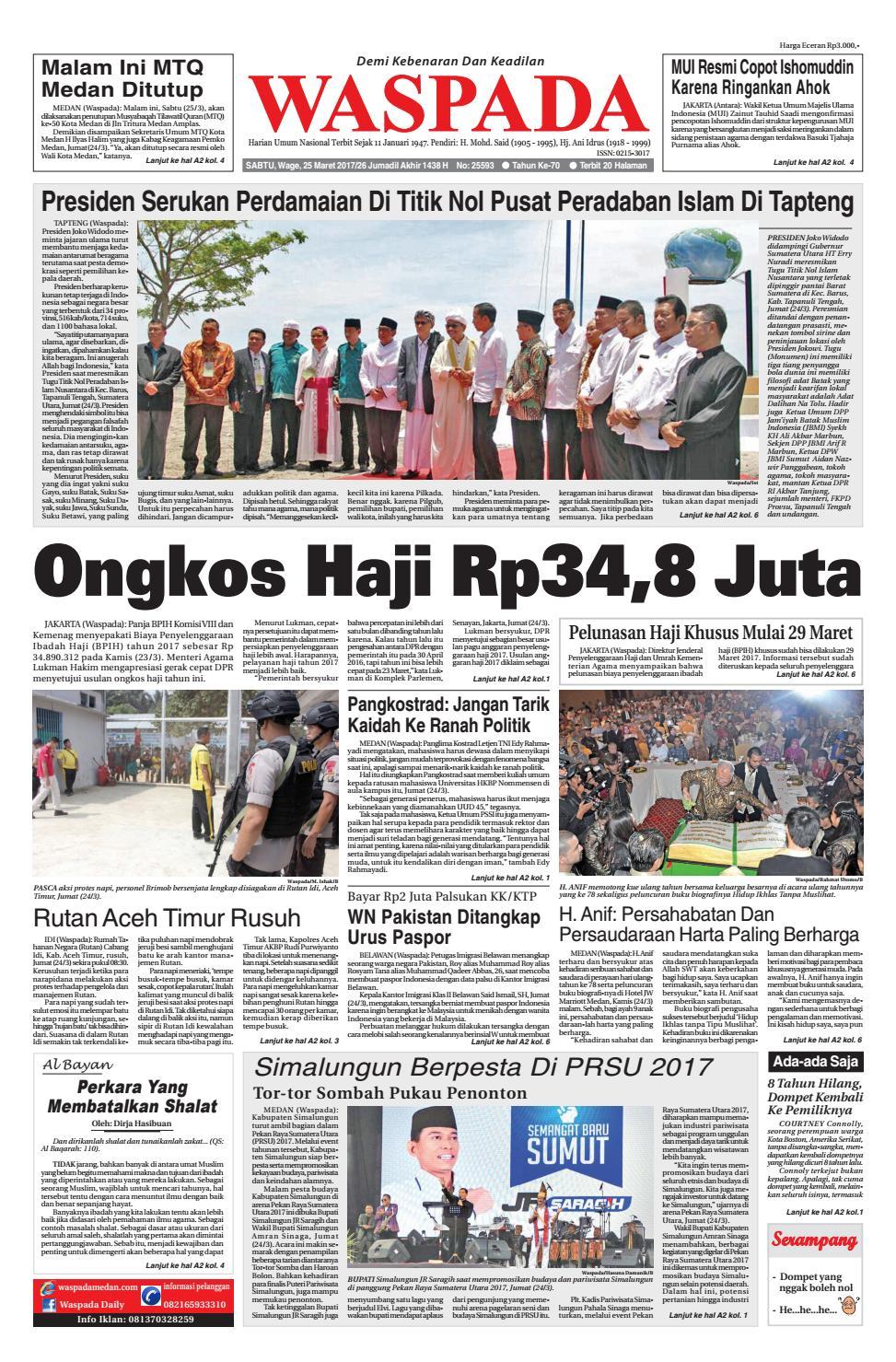 Waspada Sabtu 25 Maret 2017 By Harian Issuu Produk Ukm Bumn Tas Phiton Kombinasi Coklat Krem