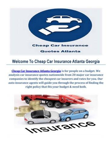 Cheap Auto Insurance In Atlanta Georgia By Cheap Car Insurance