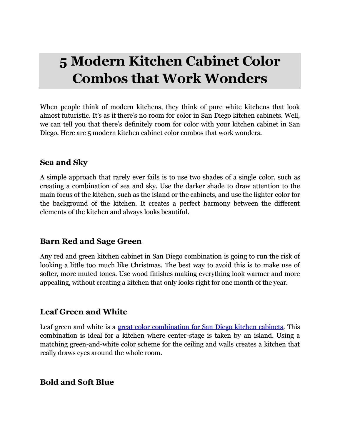 Modern Kitchen Cabinet Color Combos That Work Wonders By Anthonyfisher593 Issuu