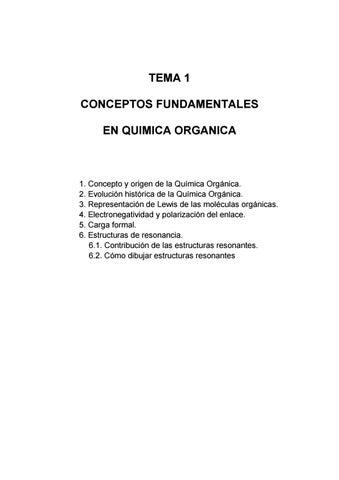 Quimica Organica Conceptos Excelente Documento By