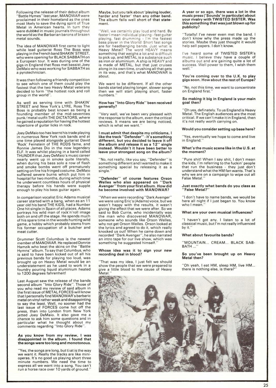 Metal forces #2 (1983 1984)