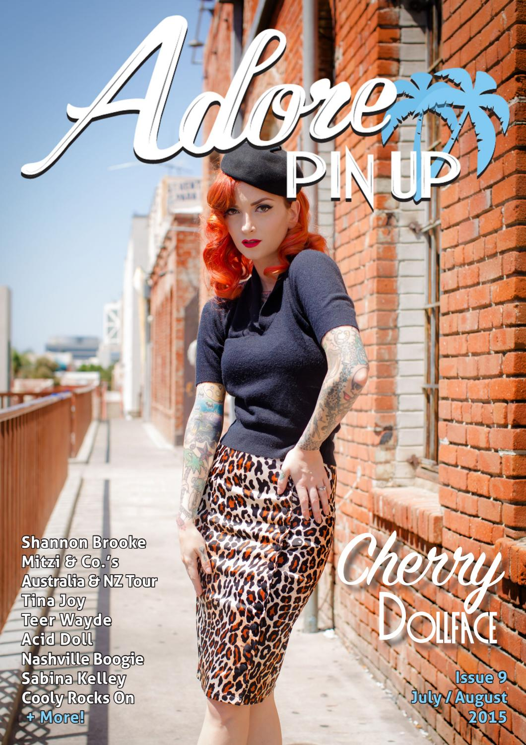 adore pin up magazine  august 2015 by adore